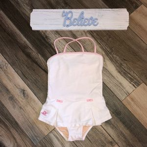 Gently used white and pink Ralph Lauren swimsuit